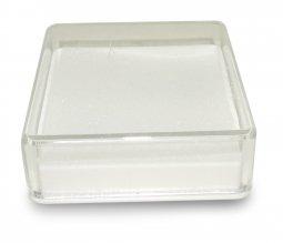 Copertina di 'Scatolina Portarosario in plastica rigida quadrata - 4 x 4 cm'