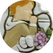 Immagine di 'Bomboniera comunione croce per bambino in resina cm 8,5 bianca'