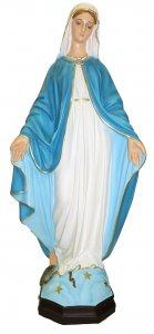 Copertina di 'Statua da esterno della Madonna della Medaglia Miracolosa in materiale infrangibile, dipinta a mano, da 80 cm'