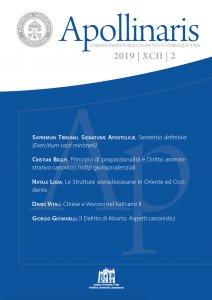 Copertina di 'Apollinaris 2019 | XCII | 2'