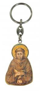 Copertina di 'Portachiavi San Francesco d'Assisi in ulivo con immagine serigrafata'