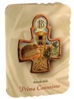 """Immagine di 'Croce """"Ricordo della Comunione"""" - dimensioni 8x6 cm'"""
