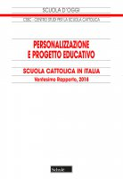 Personalizzazione e progetto educativo. Scuola cattolica in Italia