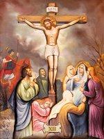 """Immagine di 'Set 15 quadretti canvas """"Via Crucis"""" - dimensioni 18x26 cm'"""