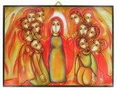 Quadro pentecoste Padre Rupnik stampa 21x28 cm - (Brisbane)