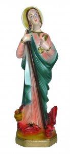 Copertina di 'Statua Santa Marta in gesso madreperlato dipinta a mano - 30 cm'