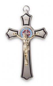 Copertina di 'Croce di San Benedetto in nikel con corpo dorato - dimensioni 20x11 cm'