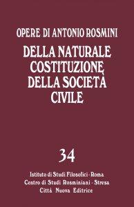 Copertina di 'Della naturale costituzione della società civile'