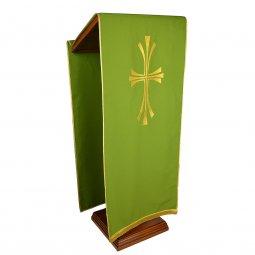Copertina di 'Coprileggio verde con croce stilizzata dorata'