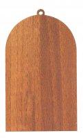 Immagine di 'Quadretto Maria che scioglie i nodi in legno - 9 x 11,5 cm'
