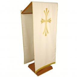Copertina di 'Coprileggio avorio con croce stilizzata dorata'