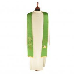 Copertina di 'Stola verde in raso con simboli eucaristici'