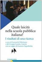 Quale laicità nella scuola pubblica italiana?