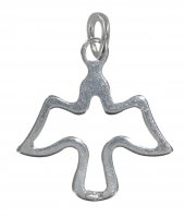 Colomba stilizzata in argento - cm 1,5