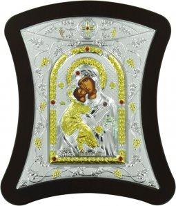 Copertina di 'Icona con lastra argento Madonna di Vladimir cm 17X18,7'