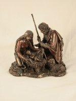 Copertina di 'Nativita' in resina bronzata'