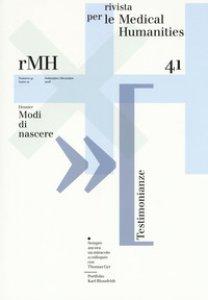 Copertina di 'Rivista per le medical humanities (2018)'