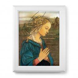 """Copertina di 'Quadro """"Lippina"""" di F. Lippi con lamina oro e cornice con decorazione a sbalzo'"""