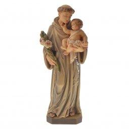 """Copertina di 'Statua sacra in legno colorato dipinto a mano """"Sant'Antonio di Padova"""" - altezza 30 cm'"""