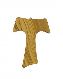 Copertina di 'Croce Tau da parete in legno di ulivo (croce di San Francesco d'Assisi) - 16 cm'