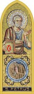 Copertina di 'Quadro Apostolo San Pietro in legno a cuspide - 10 x 27 cm'