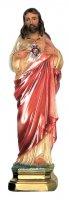 Statua Sacro Cuore di Gesù in gesso madreperlato dipinta a mano - 30 cm