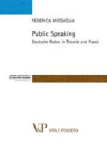 Copertina di 'Public speaking. Deutsce Reden in Theorie und Praxis'