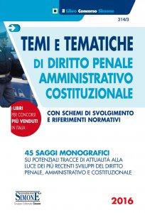 Copertina di 'Temi e Tematiche di Diritto Penale Amministrativo Costituzionale'