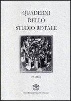 Quaderni dello Studio Rotale? - Tribunale della Rota romana