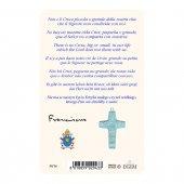 """Immagine di 'Card dettaglio """"Papa Francesco"""" con preghiera e crocetta - (10 pezzi)'"""