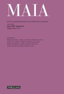Copertina di 'Maia. 2/2017: Rivista quadrimestrale di letterature classiche'