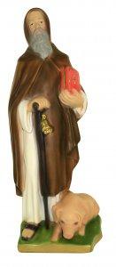 Copertina di 'Statua di Sant'Antonio Abate / Eremita in gesso dipinta a mano - 33 cm'