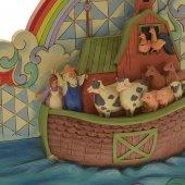 Immagine di 'Arca di Noè in resina colorata - dimensioni 21x19x6,5 cm'