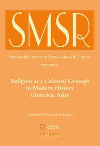 Copertina di 'SMSR. 2/2016 (vol. 82): Religion as a Colonial Concept in Modern History.'