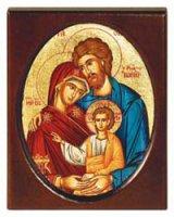 "Icona ""Santa Famiglia"" (cm 11,5 x 14,5)"