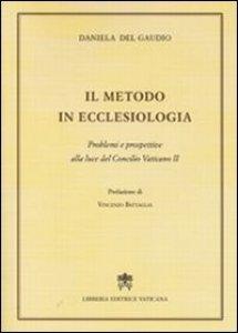 Copertina di 'Il metodo in ecclesiologia'