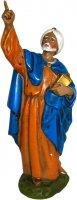 Statua del re magio Baldassarre in resina - cm 16