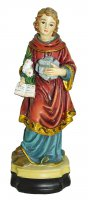 Statua di Santo Stefano da 12 cm in confezione regalo con segnalibro