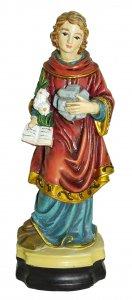 Copertina di 'Statua di Santo Stefano da 12 cm in confezione regalo con segnalibro'