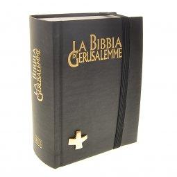 """Copertina di 'La Bibbia di Gerusalemme (edizione """"del pellegrino"""" con elastico)'"""