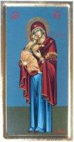 """Icona in legno """"Maria con bambino"""" - dimensioni 29x15 cm"""