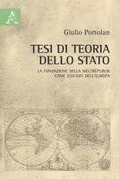 Tesi di teoria dello Stato. La fondazione della Weltrepublik come essenza dell'Europa - Portolan Giulio