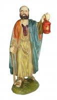 Statuine presepe: Pastore con lanterna linea Martino Landi per presepe da cm 12