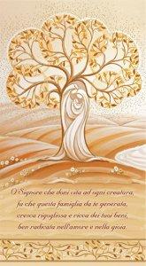 """Copertina di 'Benedizione della Famiglia """"Sacra Famiglia e Albero della Vita"""" - altezza 22 cm (10 pezzi)'"""