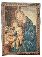 """Arazzo sacro """"Madonna del Libro"""" - dimensioni 65x53 cm - Sandro Botticelli"""
