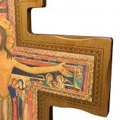 Immagine di 'Croce di San Damiano in legno da appendere - dimensioni 114x83 cm'