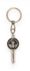 Copertina di 'Portachiavi a forma di chiave con Medaglia di San Benedetto'