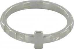 Copertina di 'Rosario anello in argento 925 con 10 quadrati misura italiana n°16 - diametro interno mm 18 circa'