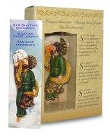 Immagine di 'Statua di San Giuseppe dormiente da 12 cm in confezione regalo con segnalibro in IT/EN/ES'