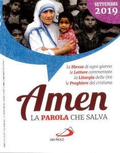 Copertina di 'Amen. La Parola che salva. Settembre 2019'